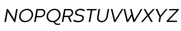Codec Warm Trial News Italic Font UPPERCASE