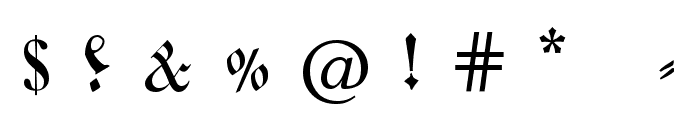 Coelnische Current Fraktur OsF UNZ1 Italic Font OTHER CHARS