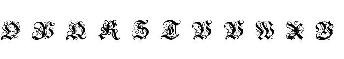 Coelnische Current Fraktur OsF UNZ1 Italic Font UPPERCASE