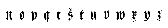 Coelnische Current Fraktur OsF UNZ1 Italic Font LOWERCASE