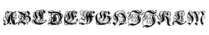 Coelnische Current Fraktur OsF UNZ1 Font UPPERCASE