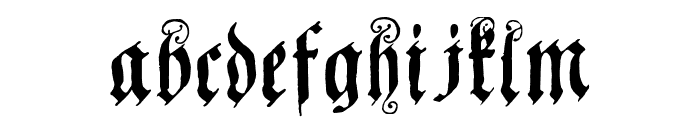 Coelnische Current Fraktur OsF UNZ1 Font LOWERCASE