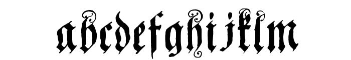 CoelnischeCurrentFraktur Font LOWERCASE