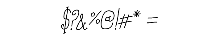Coffee Written Italic Font OTHER CHARS