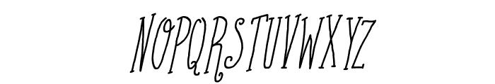 Coffee Written Italic Font UPPERCASE