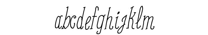 Coffee Written Italic Font LOWERCASE