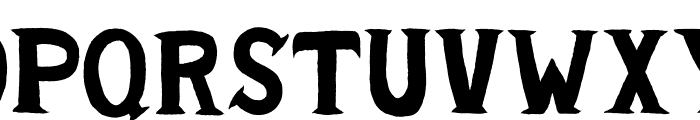 Cold Turkey Font UPPERCASE