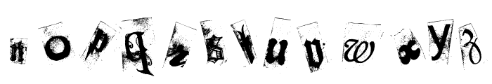 Collage anonymous Font LOWERCASE