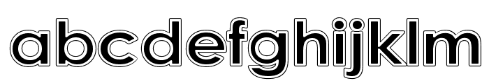 College Halo Font LOWERCASE