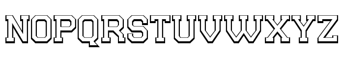 College Player Font LOWERCASE