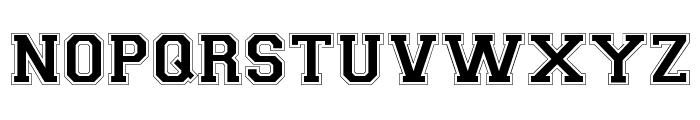 Collegiate-Normal Font UPPERCASE