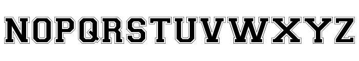 Collegiate-Normal Font LOWERCASE