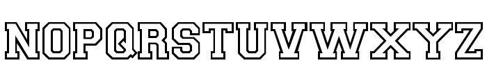 CollegiateOutlineFLF Font UPPERCASE