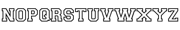 CollegiateOutlineFLF Font LOWERCASE