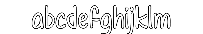 Color Time Font LOWERCASE