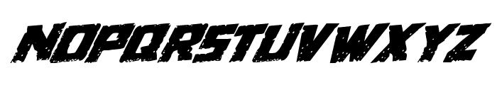 Colossus Rotated Rotatalic Font LOWERCASE