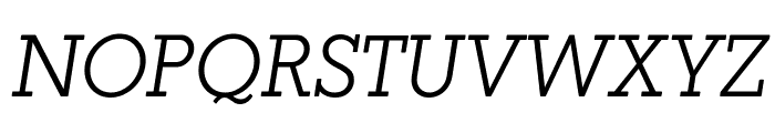 Coltan Gea Light Italic Font UPPERCASE