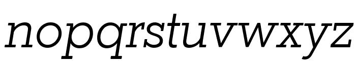 Coltan Gea Light Italic Font LOWERCASE