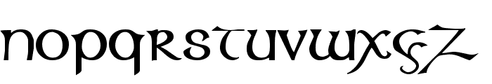 Columba Font LOWERCASE