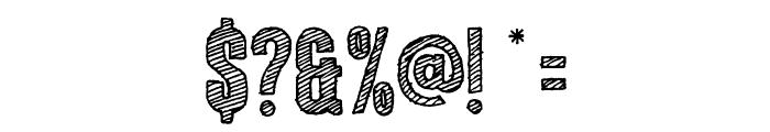 ColunaSketch-CondensedBold Font OTHER CHARS