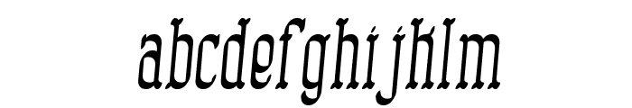 Combustion II BRK Font LOWERCASE