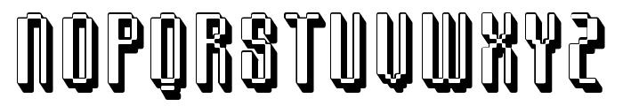 Comdotshadow Font UPPERCASE