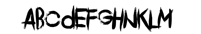 Comeback Of The Damned Font UPPERCASE