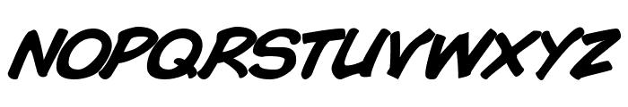 Comic Book Bold Italic Font UPPERCASE
