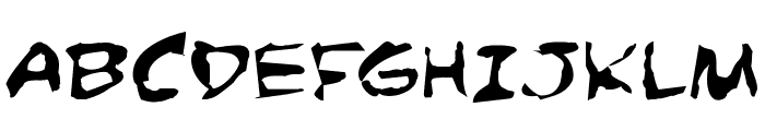 Comic Book Commando Distorted Font UPPERCASE