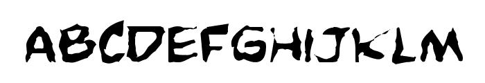 Comic Book Commando Distorted Font LOWERCASE