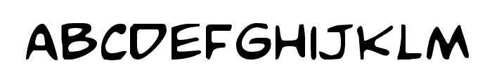 Comic Book Commando Font LOWERCASE