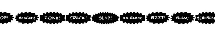 Comic FX Font UPPERCASE