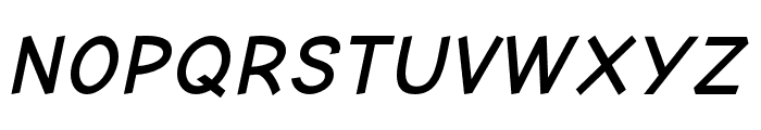 Comic Neue Angular Bold Oblique Font UPPERCASE