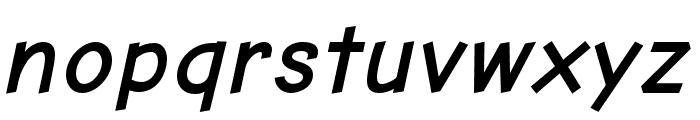 Comic Neue Angular Bold Oblique Font LOWERCASE