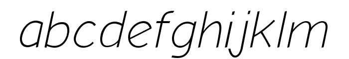 Comic Neue Angular Light Oblique Font LOWERCASE