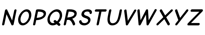 Comic Neue Bold Oblique Font UPPERCASE