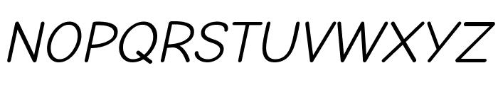Comic Neue Italic Font UPPERCASE
