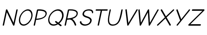 Comic Neue Oblique Font UPPERCASE
