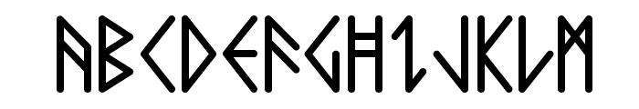 Comic Runes  Font UPPERCASE