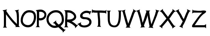 Comic Serif Font UPPERCASE