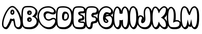 Comic White Rabbit Font UPPERCASE