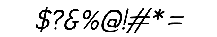 Comica Regular Italic Font OTHER CHARS