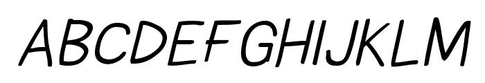Comica Regular Italic Font UPPERCASE