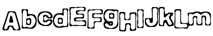 Comicate Font UPPERCASE