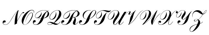 CommScriptTT Font UPPERCASE