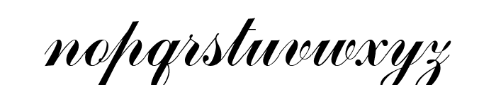 CommScriptTT Font LOWERCASE
