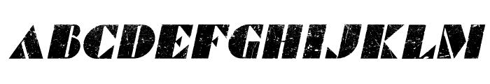 Commanders Grunged Italic Font UPPERCASE