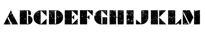 Commanders Grunged Regular Font UPPERCASE