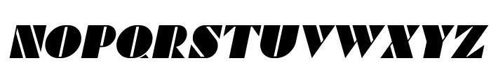 Commanders Italic Font UPPERCASE