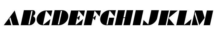 Commanders Italic Font LOWERCASE